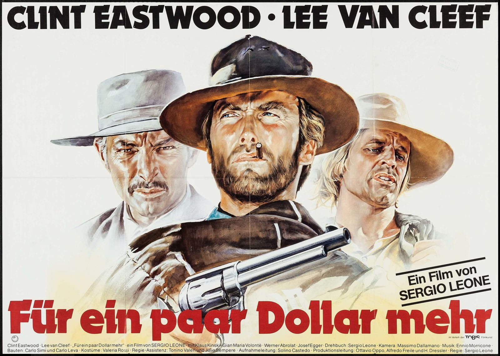 For a Few Dollars More german poster art