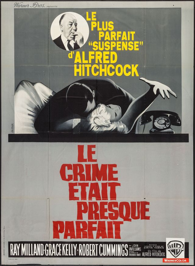 French poster for Hitchcock's Dial M for Murder