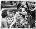 Michael Cimino and Robert DeNiro on the set of The Deer Hunter