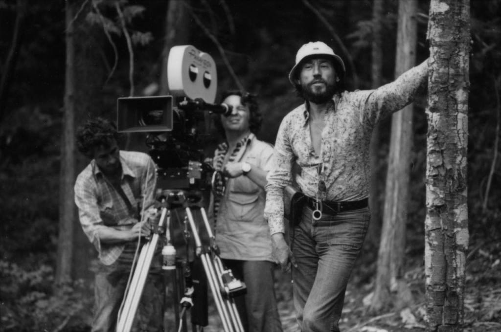Michael Cimino and Vilmos Zsigmond on the set of The Deer Hunter