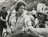 Michael Cimino on the set of The Deer Hunter