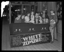 Movie theater display for 1932's White Zombie in front of the Ben Ali Theatre in Lexington, Kentucky.