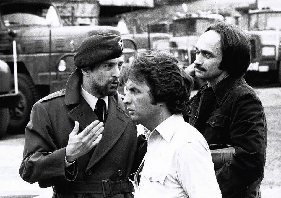 Robert DeNiro Michael Cimino John Cazale on the set of The Deer Hunter