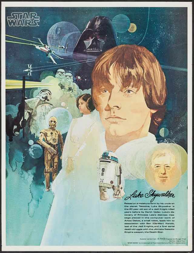 star wars coke and burger chef poster by del nichols 1 deep fried