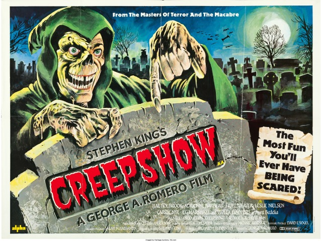 Creepshow British quad poster by Tom Chantrell
