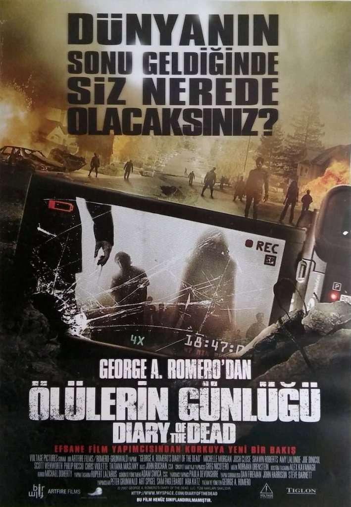Diary of the Dead Turkish poster