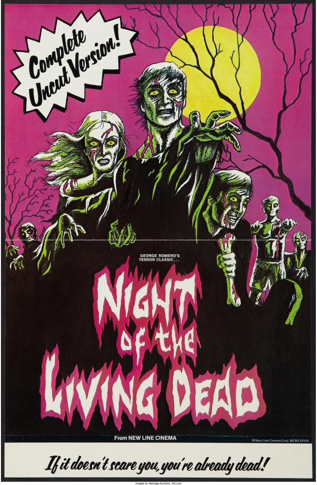 Night of the Living Dead poster for 1978 New Line Cinemas rerelease