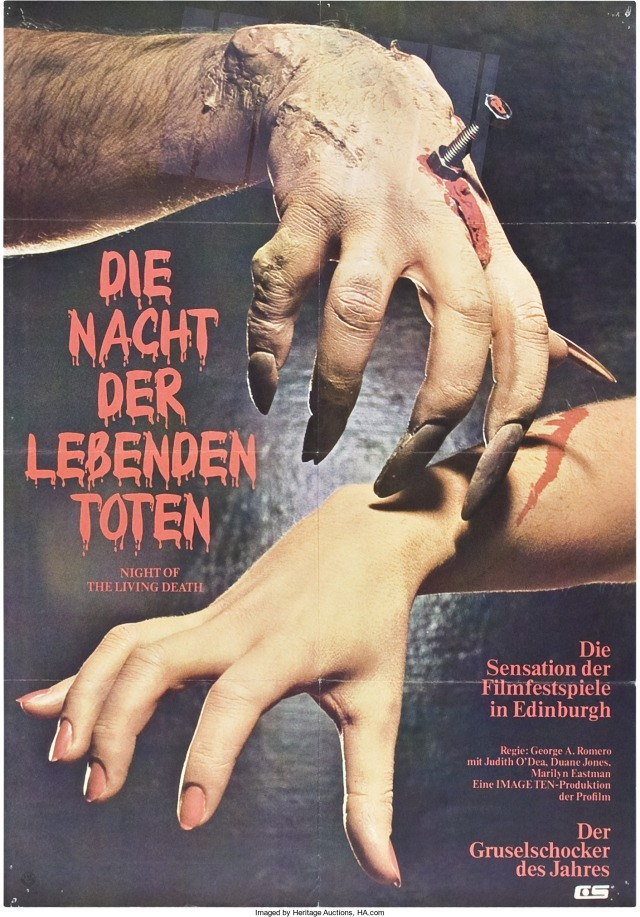 Night of the Living Dead German poster