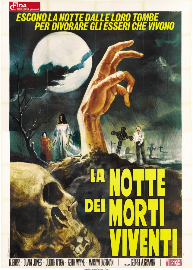 Night of the Living Dead Italian poster