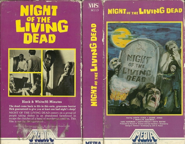 Night of the Living Dead Media vhs release