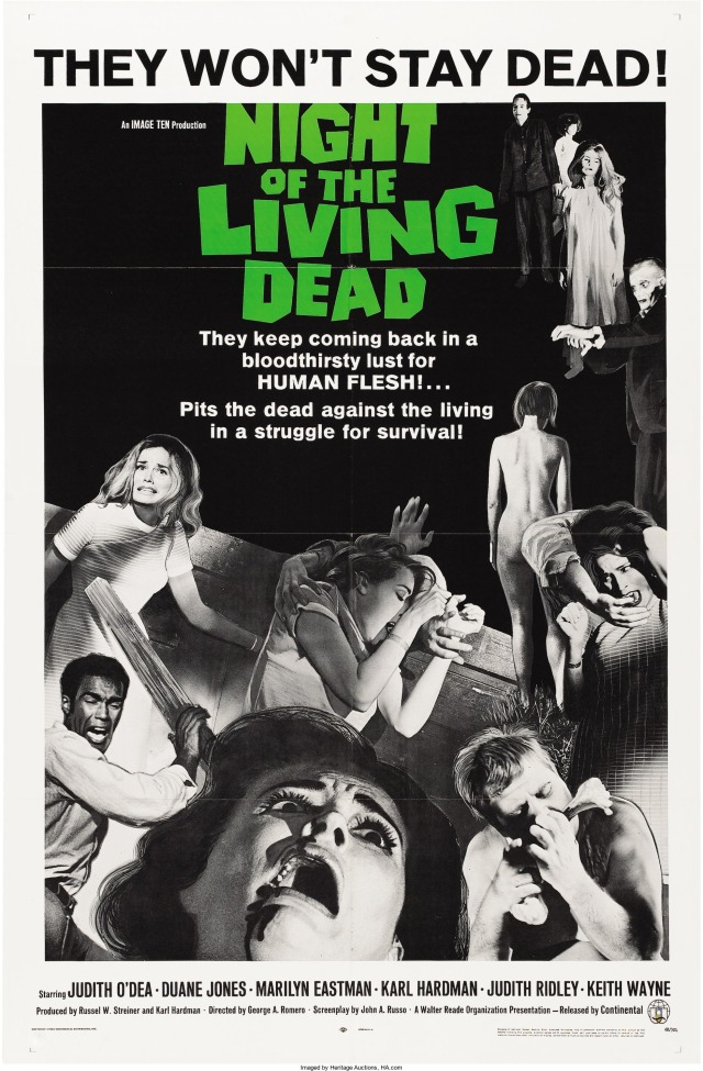 Night of the Living Dead original theatrical poster
