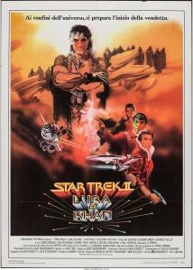 Star Trek II The Wrath of Kahn italian poster by Bob Peak