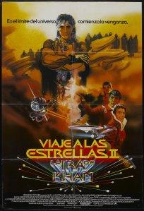 Star Trek II The Wrath of Kahn spanish poster by Bob Peak