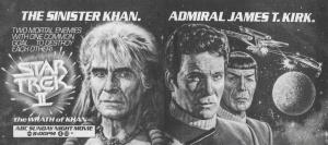 Star Trek II The Wrath of Kahn TV guide ad with Bob Larkin illustration