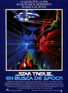 Star Trek III The Search for Spock spanish poster by Bob Peak