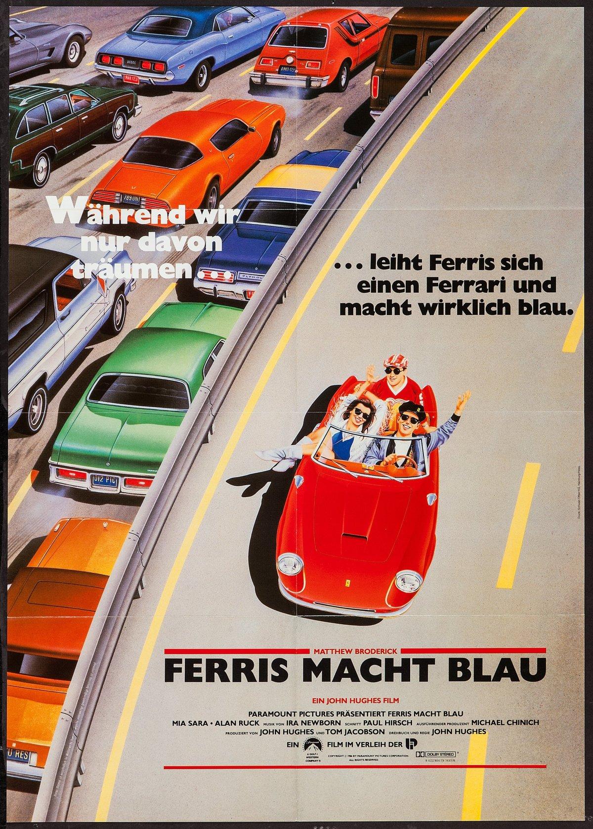 Ferris Bueller's Day Off german poster