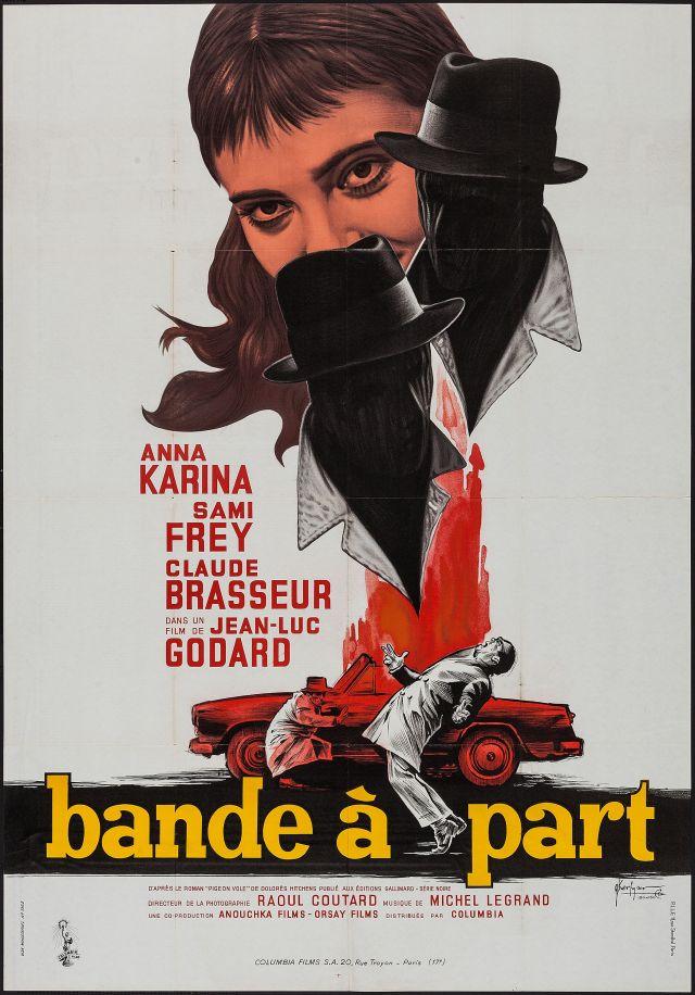 Godard Band of Outsiders french poster by Georges Kerfyser