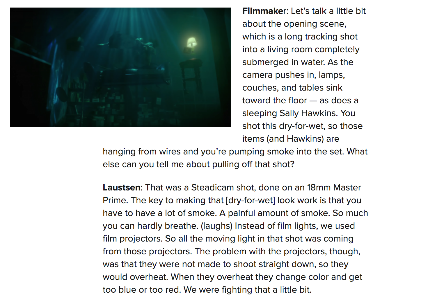 Calendar Quotes From The Shape Of Water : Deep fried movies page