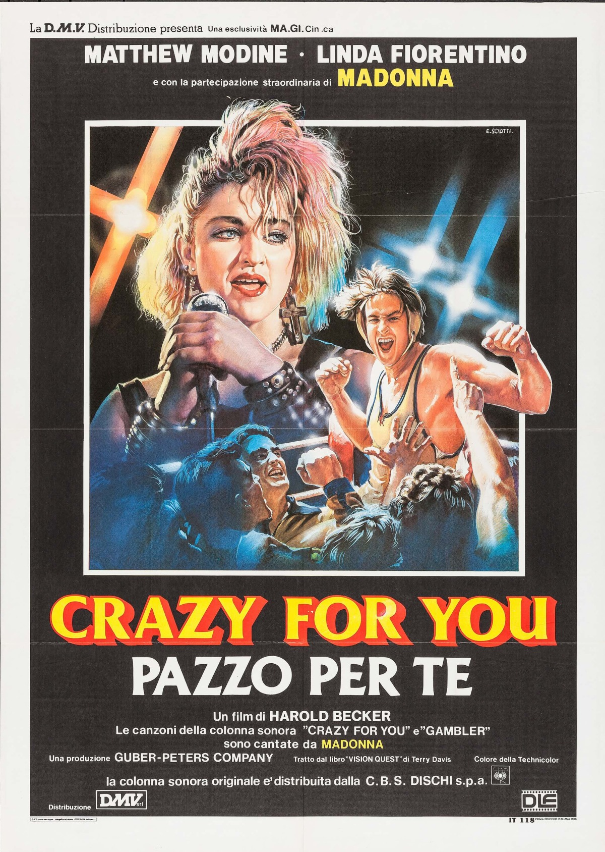 Vision Quest italian poster