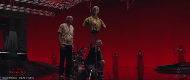 Andy Serkis behind the scenes of Star Wars The Last Jedi #4