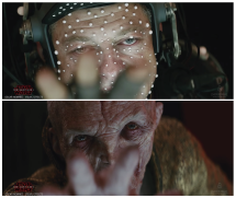 Before and after VFX from Star Wars The Last Jedi