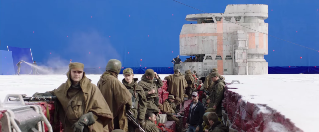 Behind the scenes of Star Wars The Last Jedi on planet Crait