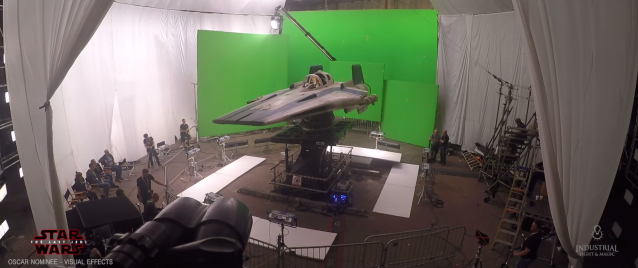Behind the Scenes on The Last Jedi soundstage