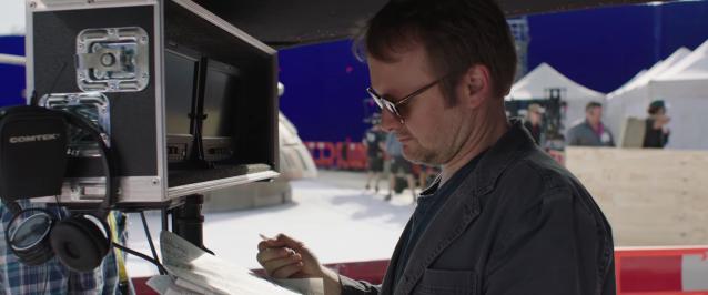 Rian Johnson behind the scenes of Star Wars The Last Jedi