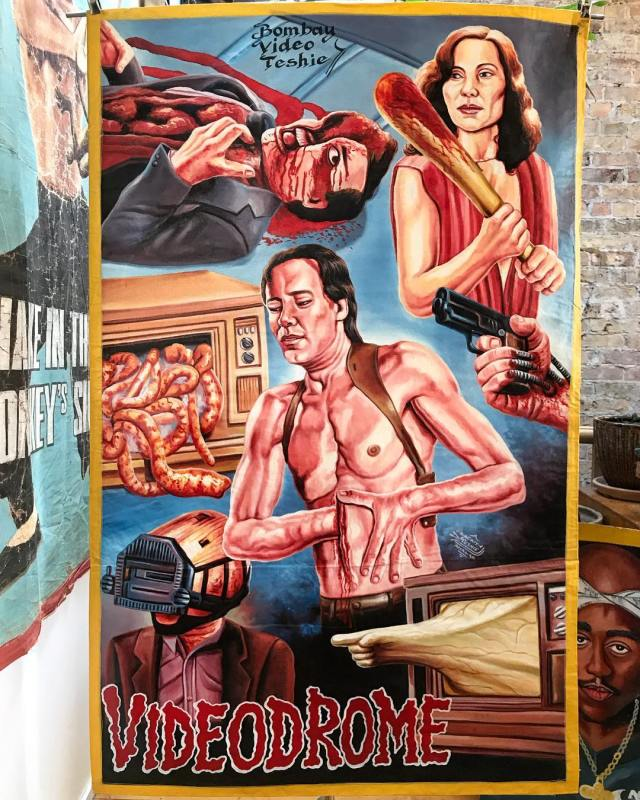 Videodrome poster from Ghana by Heavy J