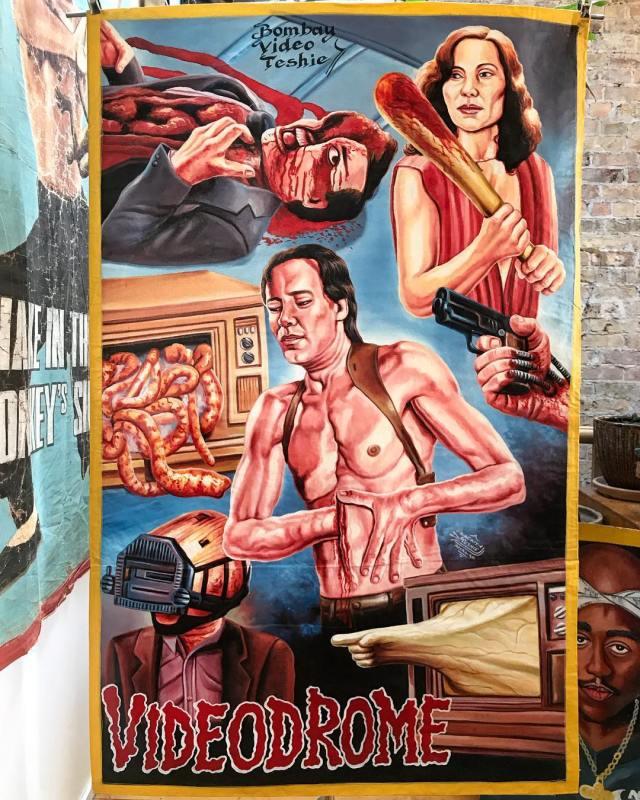 Videodrome poster from Ghana by Heavy J