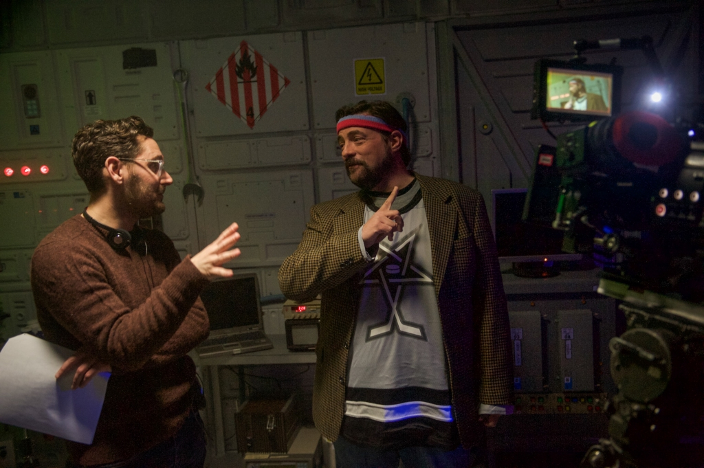 Kevin Smith on the set of Another WolfCop