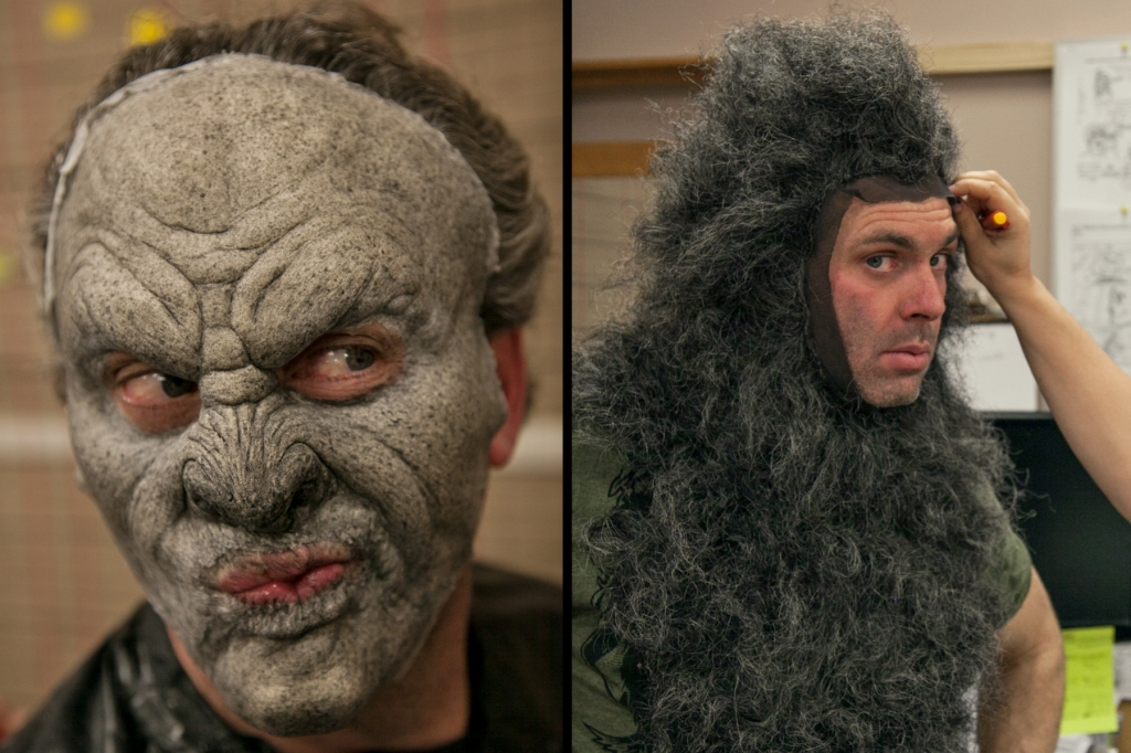 Behind the scenes WolfCop make-up