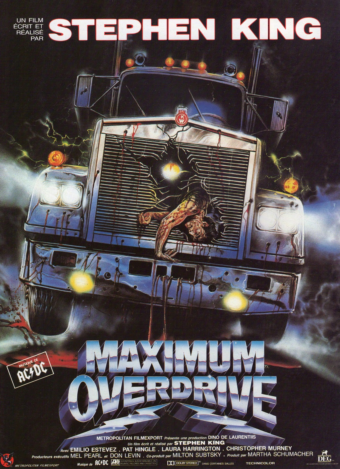 Maximum Overdrive french poster