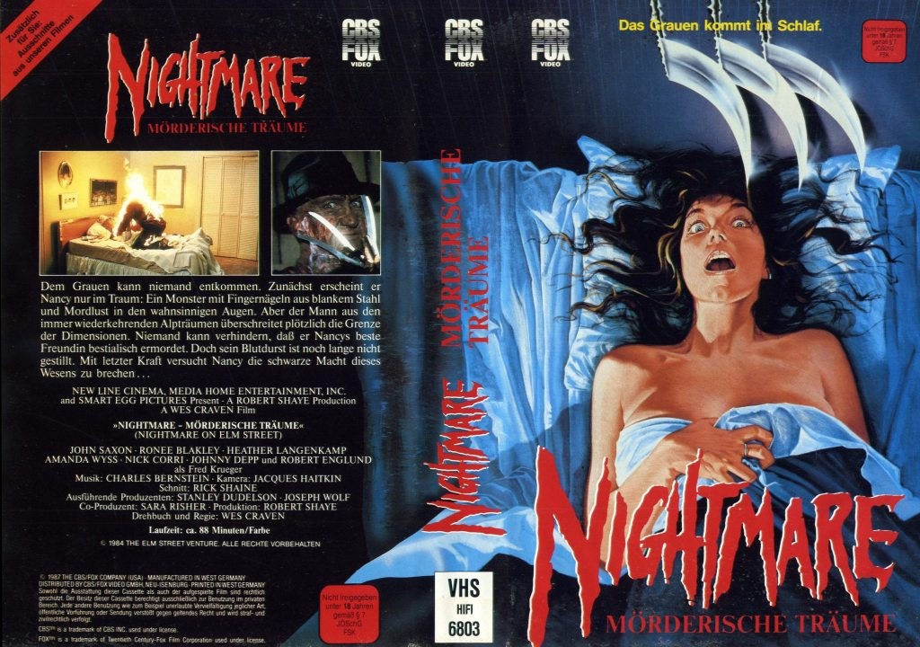 A Nightmare on Elm Street (1984) german vhs