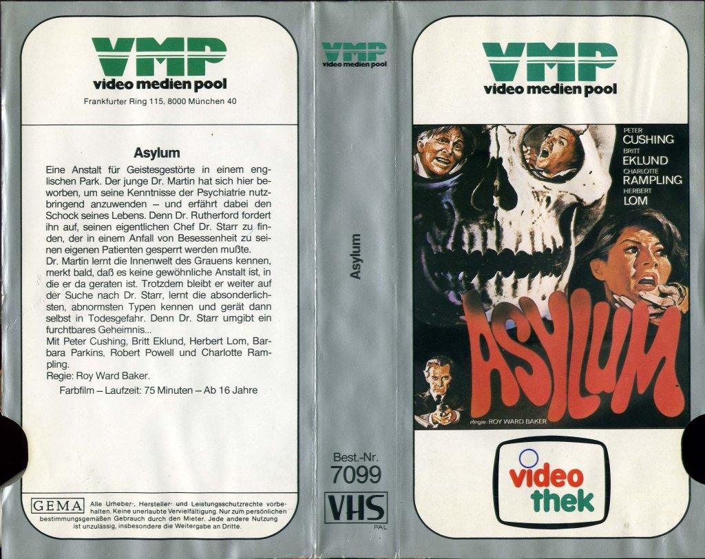 Asylum (1972) german vhs