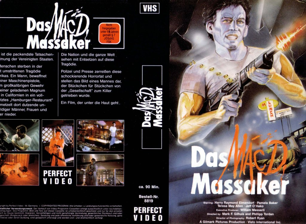 Bloody Wednesday (1987) german vhs cover by Chriss Heiss
