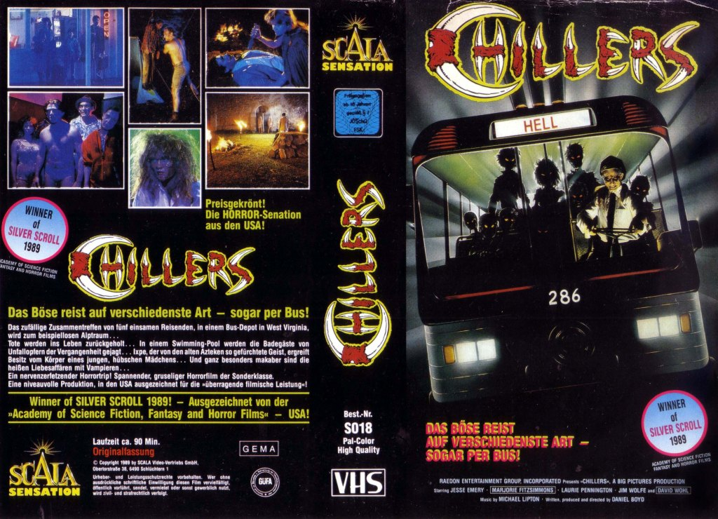 Chillers (1987) german vhs