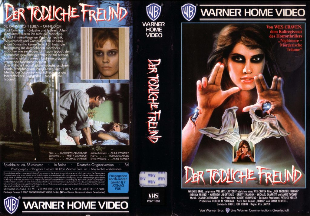 Deadly Friend (1986) german vhs