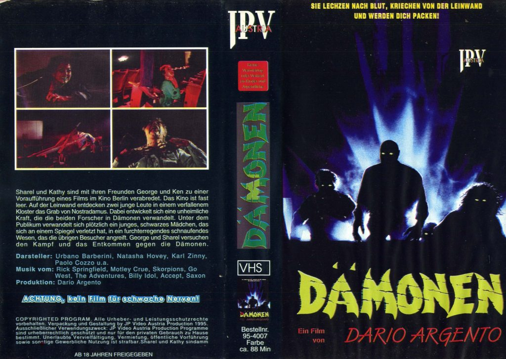 Demons (1985) german vhs