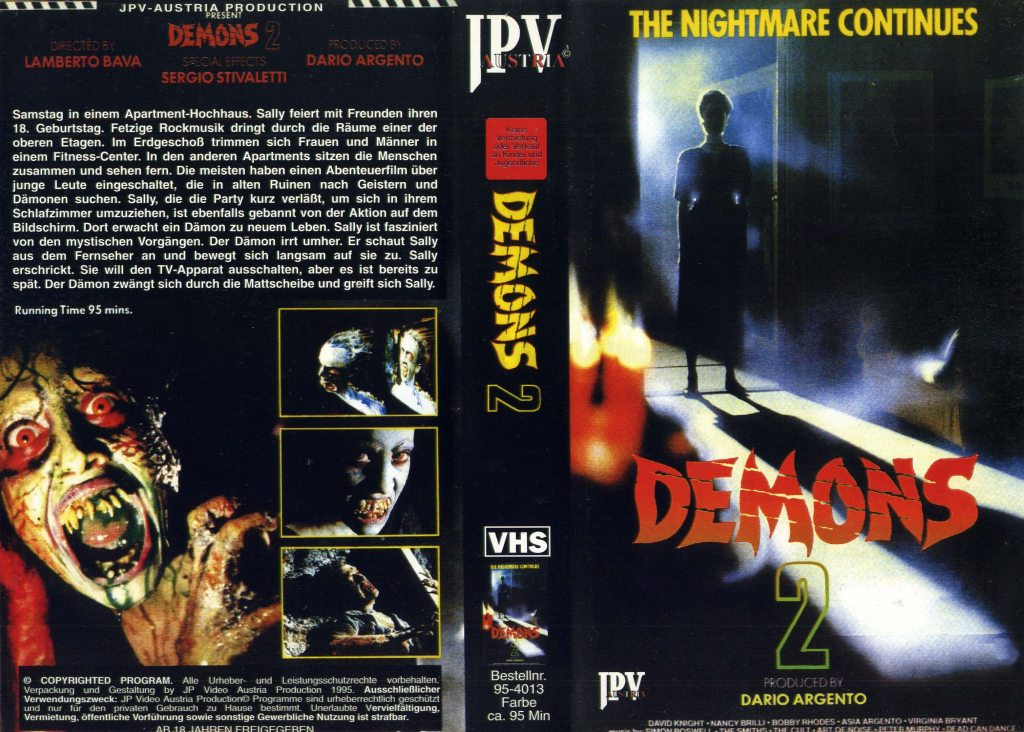 Demons 2 (1986) german vhs