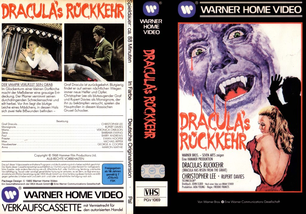 Dracula Has Risen From the Grave (1968) german vhs