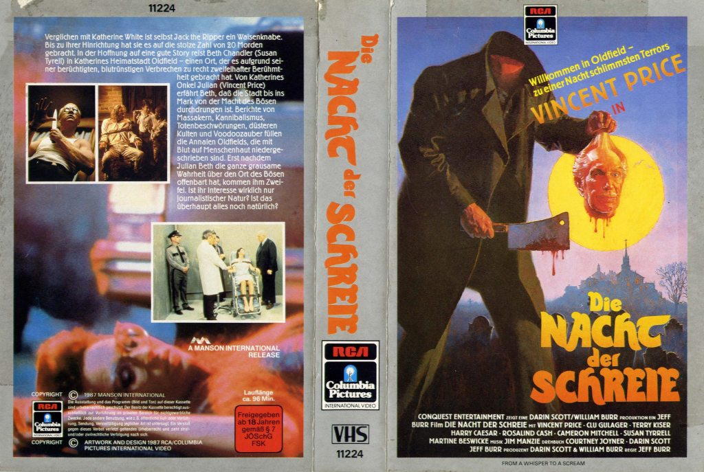 From a Whisper to a Scream (1987) german vhs