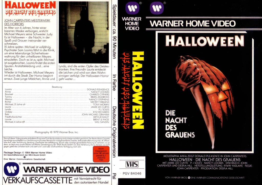 Halloween (1978) german vhs