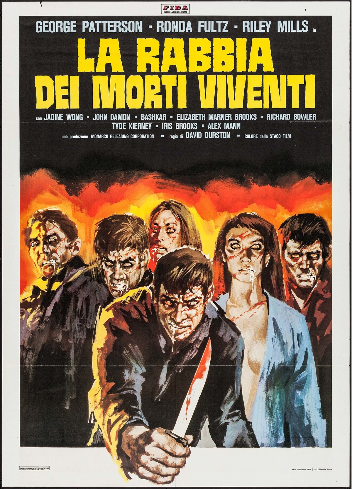 I Drink Your Blood Italian poster