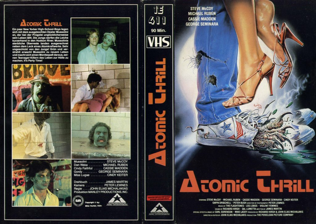 I Was a Teenage Zombie (1987) german vhs cover by Enzo Sciotti