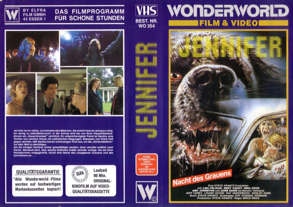 Jennifer (1978) german vhs cover by Enzo Sciotti