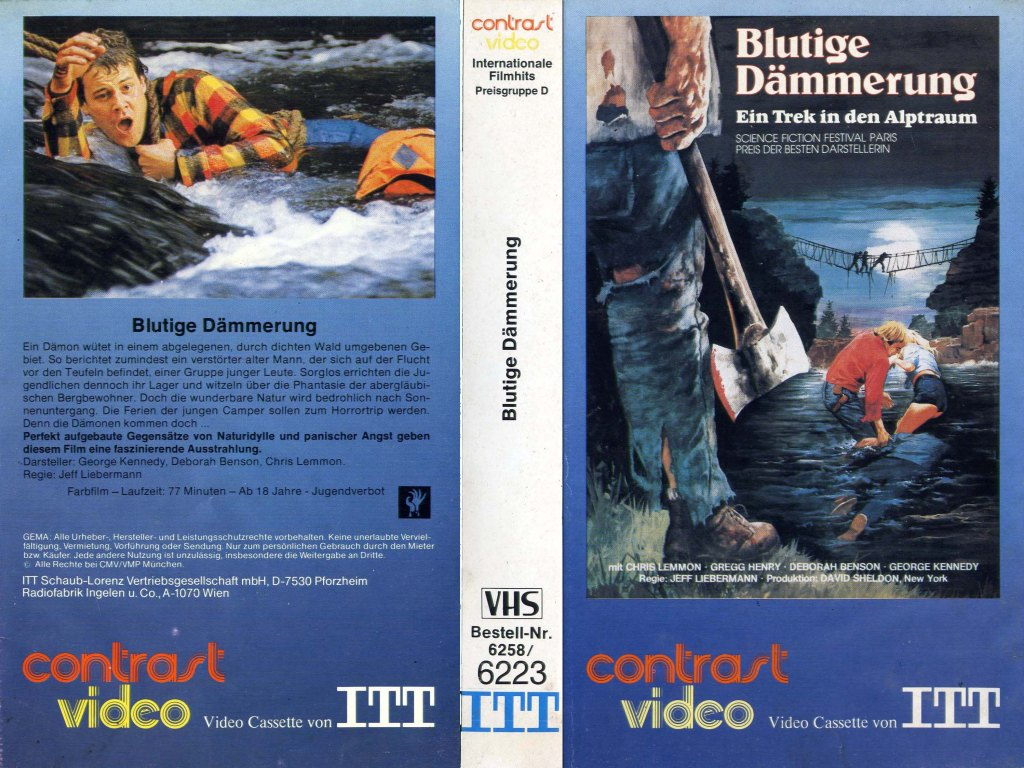 Just Before Dawn (1981) german vhs