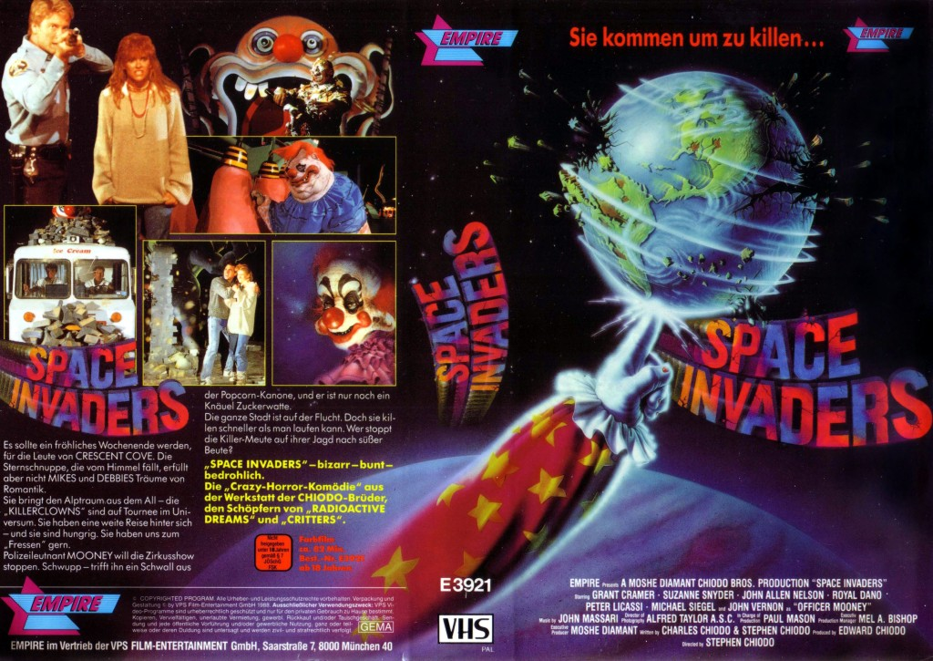 Killer Clowns From Outer Space (1988) german vhs