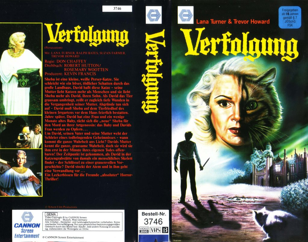 Persecution (1974) german vhs cover by Michael Knepper