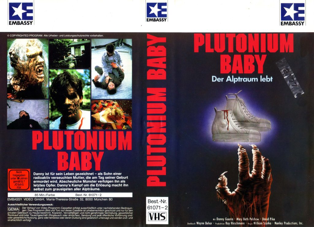 Plutonium Baby (1987) german vhs